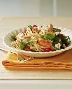 Warm Salmon Arugula Salad recipe image