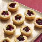 Beet and Farmer Cheese Tartlets close up recipe image