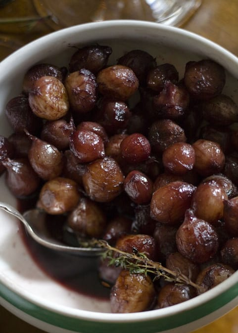 Red Wine-Glazed Pearl Onions