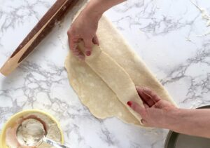 Example image of folding the perfect pie crust