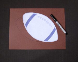 Handcrafted paper football snack bowl how to image