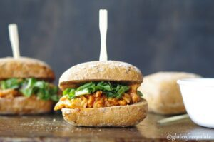Gluten free Carolina Sliders recipe image