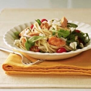 Warm Salmon Arugula Salad recipe image