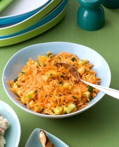Shredded Carrot Salad with Apple and Lime is a healthy and delicious side dish