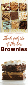 Think Outside of the box brownies pin