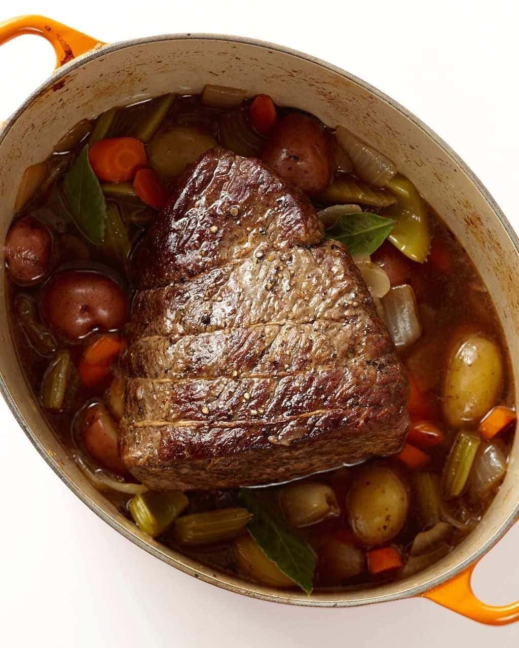 The Best Classic Pot Roast With Vegetables Oven Roast Tara Teaspoon