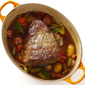 Overhead shot of The Best Classic Pot Roast with Vegetables