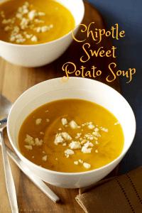 Chipotle Sweet Potato Soup pin image