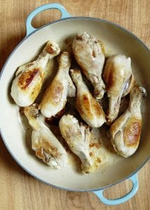 Browned Chicken Drumsticks