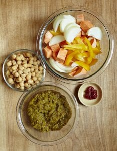 Ingredients for Chicken Curry Drumsticks with Chickpeas recipe