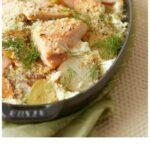 Pinterest image for Easy Dinner Potato Salmon Bake with text