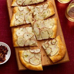 Potato Herb Flatbread is a fantastic app for a party, or a tasty side to soup.