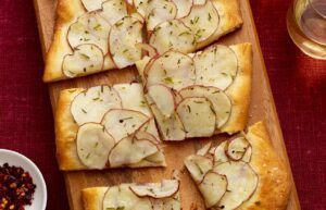 Close up of Potato Herb Flatbread