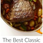 Pinterest image for The Best Classic Pot Roast With Vegetables with text