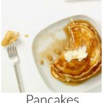 Pinterest image for Pancakes From Pantry Ingredients with text