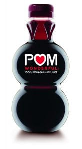 bottle of POM juice