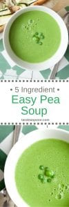 Pinterest image for 5 Ingredient Easy Pea Soup with text