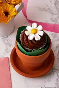 little flower cupcake in a pot pin