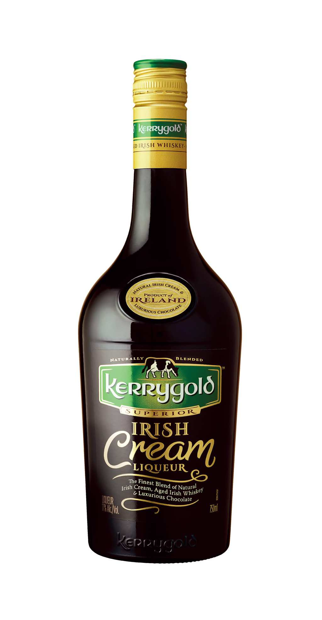 bottle of kerrygold irish cream liqueur