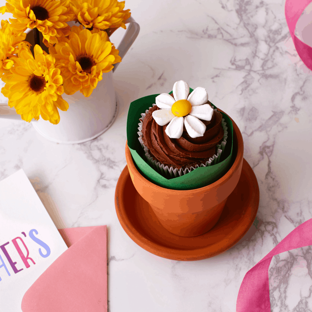 Tara Teaspoon & little flower pot cupcake feature | tarateaspoon
