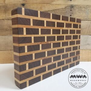 brick pattern cutting board standing up