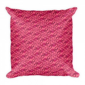 Rich Uncle pink pillow
