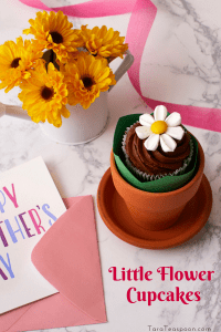 little flower cupcakes in a pot pin