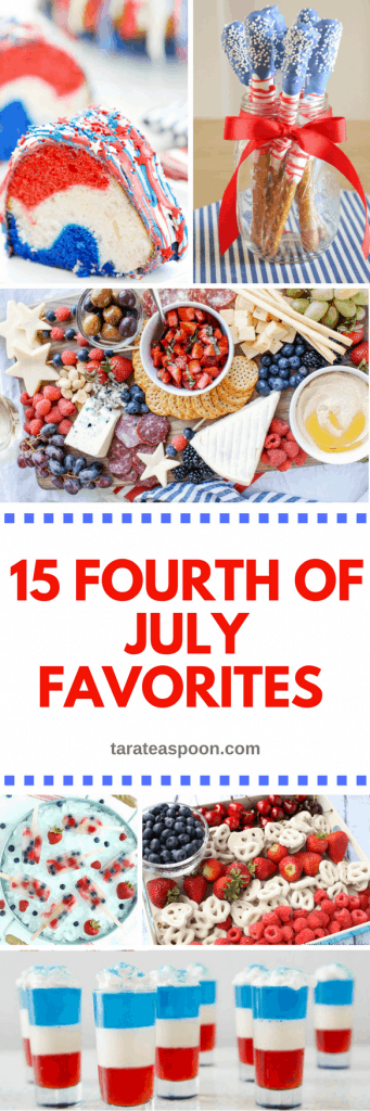 Pinterest image for 15 fourth of july favorites with text