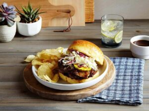 Slow Cooker Brisket Sandwich bun off