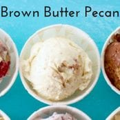 Brown Butter Pecan Homemade Ice Cream image