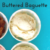 Easy homemade ice cream Buttered Baguette flavor with a vanilla base. No churn required just use a KitchenAid.