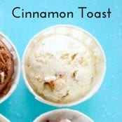 Easy homemade ice cream Cinnamon Toast flavor with a vanilla base. No churn required just use a KitchenAid.