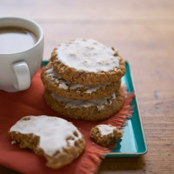 Classic Iced Oatmeal Cookies are based on those perfectly crunchy, slightly spicy grocery store treats from childhood. Make your own at home!