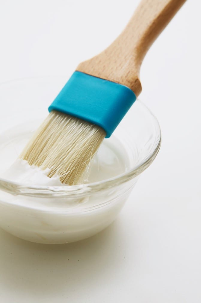 Brush in royal icing.