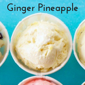 Easy homemade ice cream Ginger Pineapple flavor with a vanilla base. No churn required just use a KitchenAid.