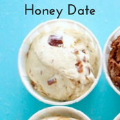 Easy homemade ice cream Honey Date flavor with a vanilla base. No churn required just use a KitchenAid.