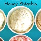 Honey Pistachio Homemade Ice Cream image