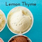 Lemon Thyme Homemade Ice Cream image