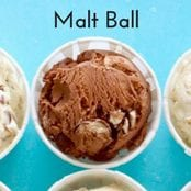 Malt Ball Homemade Ice Cream image