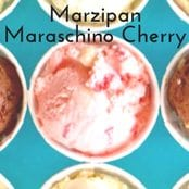 Marzipan Maraschino Cherry Homemade Ice Cream image