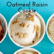 Easy homemade ice cream Oatmeal Raisin Cookie flavor with a vanilla base. No churn required just use a KitchenAid.