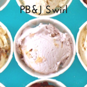Easy homemade ice cream PB&J Swirl flavor with a vanilla base. No churn required just use a KitchenAid.
