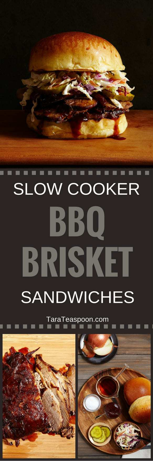Slow cooker brisket sandwiches knock the socks off of your summer cookout. A few simple steps, plus no standing over a grill, make a delicious BBQ meal.