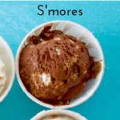 Easy homemade ice cream S'mores flavor with a chocolate base. No churn required just use a KitchenAid.