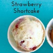 Strawberry Shortcake Homemade Ice Cream image