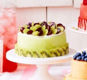 Fruit Cake with Honeydew Melon recipe image