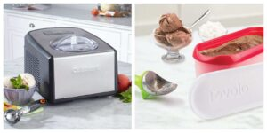 Cuisinart ice cream maker and Tovolo Slide n scoop giveaway products