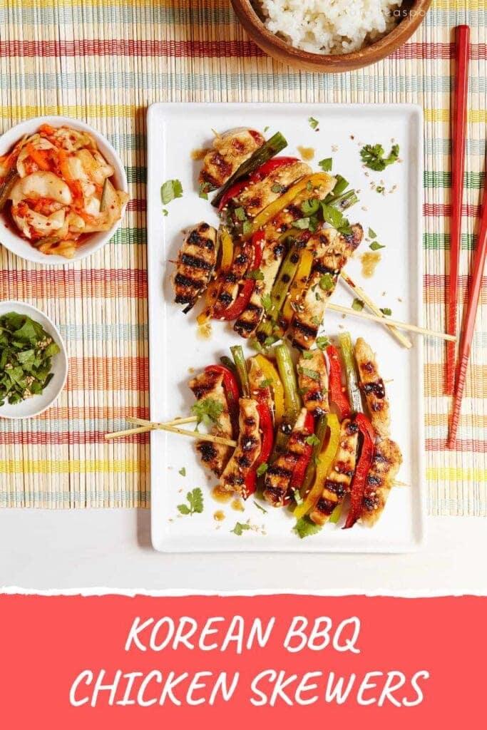 Grilled Korean BBQ skewers