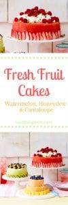 Pinterest image - fresh fruit cakes