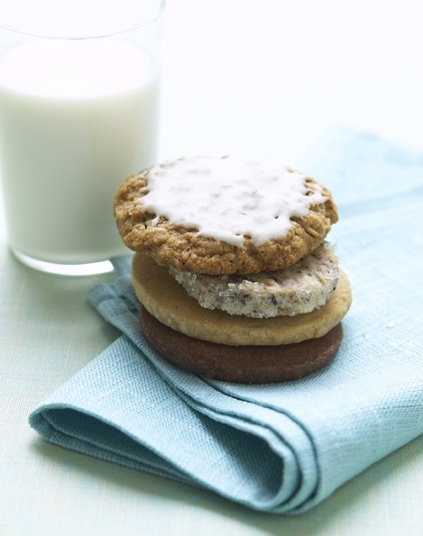 stack of cookies with icing